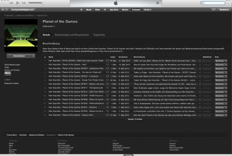 Planet of the Games bei iTunes erhältlich